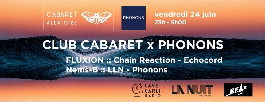[Live Recording] Fluxion @ Club Cabaret x Phonons – 24.06.16